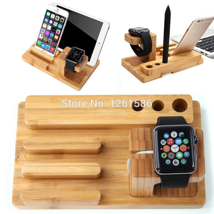Apple Watches Multi Wood Bamboo Dock Charger Stand - iDeviceCase.com