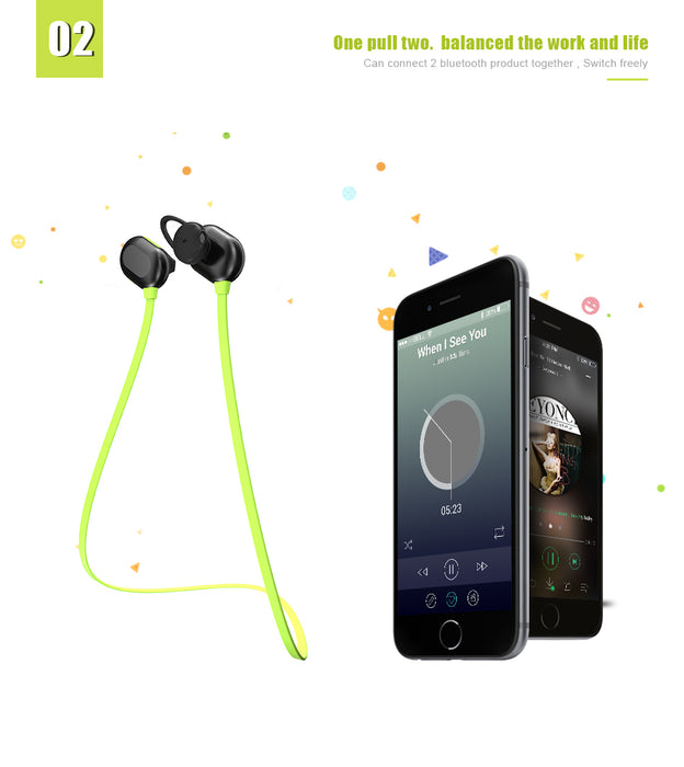 FLOVEM Bluetooth Earphone Sports Stereo Earpiece Wireless Magnetic Earpieces For iPhone 7 6S Plus For iPod iPad Samsung S8 S7 S6 - iDeviceCase.com