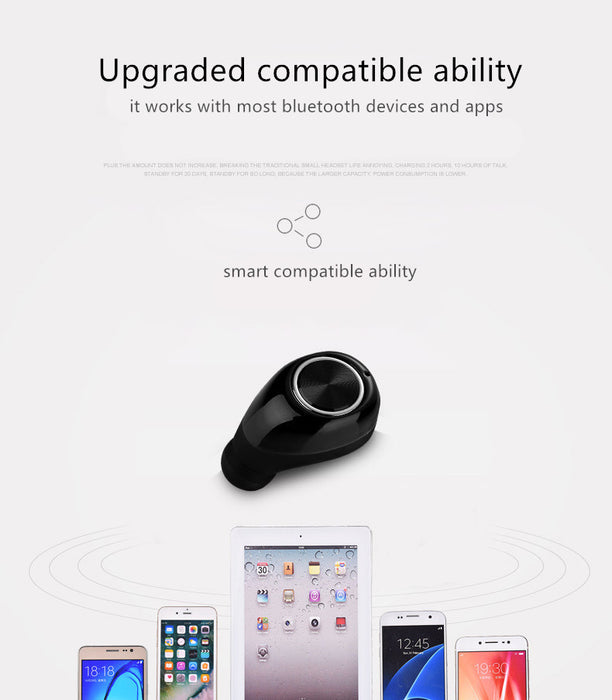 Mini Bluetooth Headset Wireless Bluetooth Earphone Music Earbuds With Microphone For iPhone Samsung fone de ouvido - iDeviceCase.com