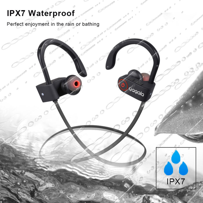 YAGALA Bluetooth Earphone Noise Reduction IPX7 Waterproof Wireless Headphone with Microphone - iDeviceCase.com