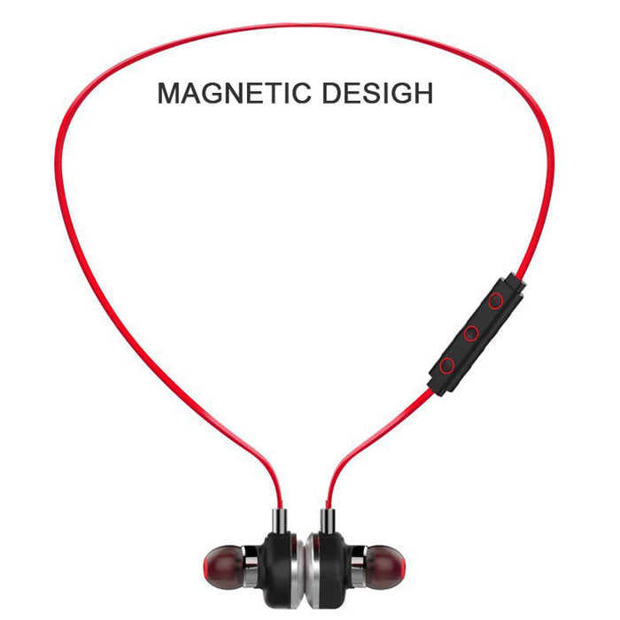 MISR BX60 Wireless Bluetooth Earphone Magnetic For Phone With Microphone Stereo Sport Waterproof Headset - iDeviceCase.com