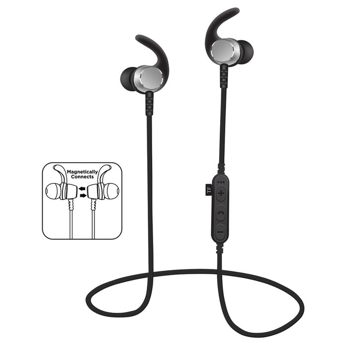 SMILYOU T3 Bluetooth Headset Metal Magnetic Wireless Stereo Headphones with Mic Apt-X - iDeviceCase.com