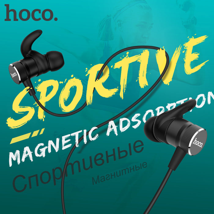 Original HOCO Magnetic Bluetooth Earphones Wireless Headset with Mic for iPhone Xiaomi Stereo In Ear Hook Earbuds Sports Running - iDeviceCase.com