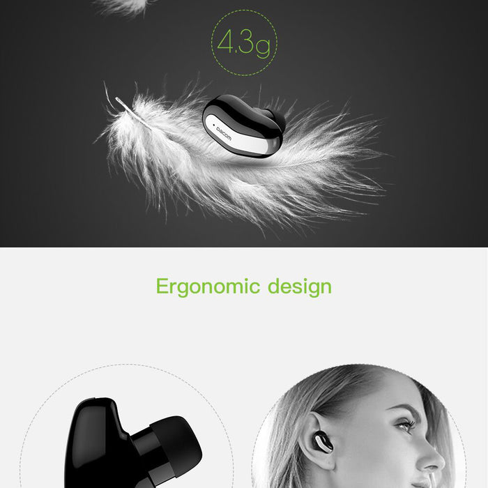 Dacom k8 Mini Single Earbuds Hidden Invisible Earpiece Micro Wireless Headset Bluetooth Earphone For Phones - iDeviceCase.com