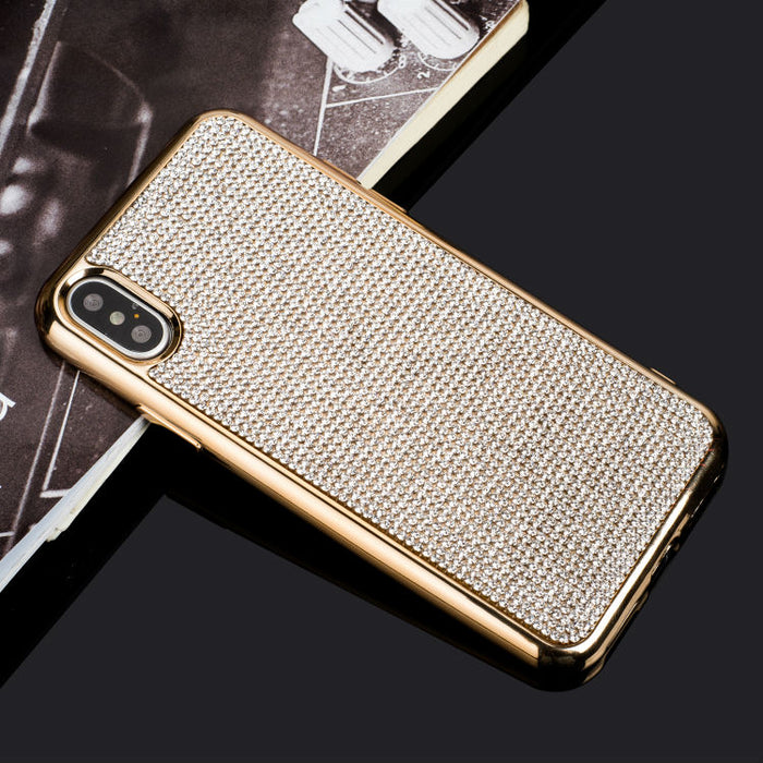 Dower Me Fashion Bling Full Crystal Diamond Rhinestone Soft Electroplate Case Cover For iPhone XS Max XR X 8 7 6 6S Plus 5 5S SE - iDeviceCase.com