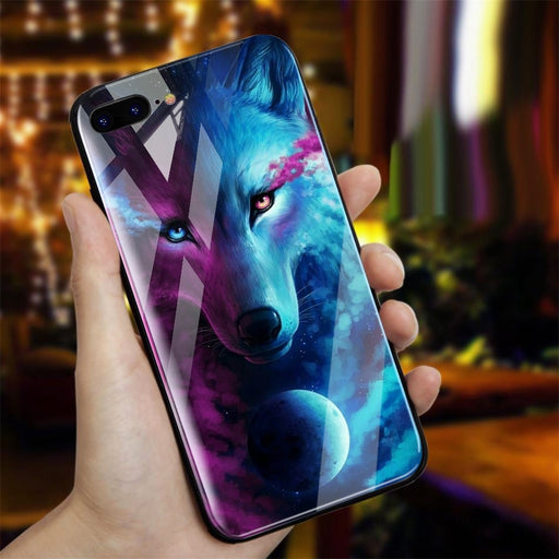 TOMKAS Phone Case For iPhone X 8 7 10 6 6s XS Glass Animal Cover Case For iPhone X 7 8 6 6 s Plus Luxury Case Cute Covers Coque - iDeviceCase.com