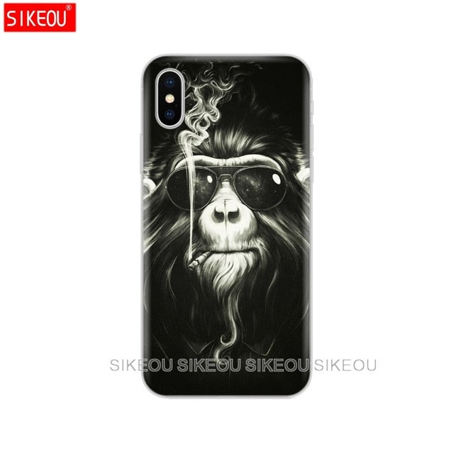 Soft FOR Coque iPhone 5 5S SE 6 6S 7 8 Plus X 10 Case Cover FOR Capa iPhone 6 Case FOR Fund iPhone 6S Case FOR iPhone 5 - iDeviceCase.com