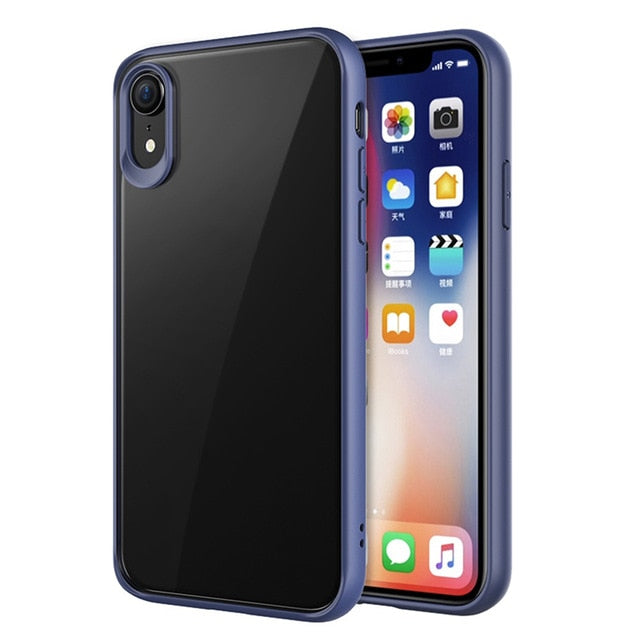 VPOWER For 2018 iPhone XR XS Max 5.8 6.1 case, Crystal Clear Phone protection soft + hard hybrid case for iphone xs max cover - iDeviceCase.com