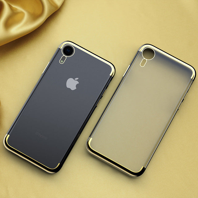 KEYSION Soft TPU Case for iPhone XS Max Ultra thin transparent plating shining case for iPhone XS XR X  Mixed silicon cover - iDeviceCase.com