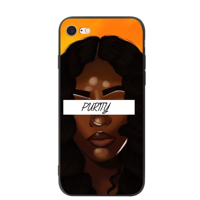 YIMAOC 2bunz Melanin Poppin Aba Soft Silicone Case for iPhone XS Max XR X 8 7 6 6S Plus 5 5s se - iDeviceCase.com
