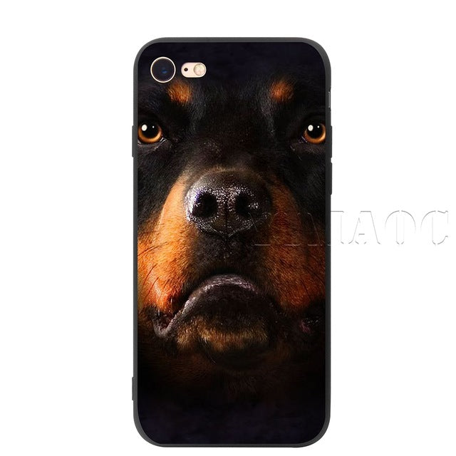 YIMAOC Rottweiler Dog Silicone Soft Case for iPhone XS Max XR X 8 7 6 6S Plus 5 5S SE - iDeviceCase.com