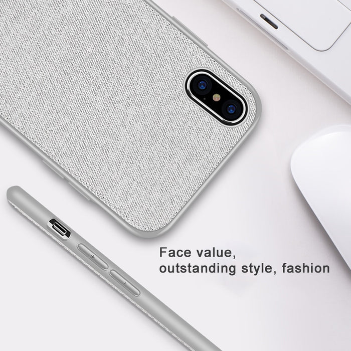 Vintage Cloth Phone Cases For iPhone 7 8 Plus Ultra Slim Business Fabric Cloth Soft Protect Case For iPhone XS Max XS X XR 6 6S - iDeviceCase.com