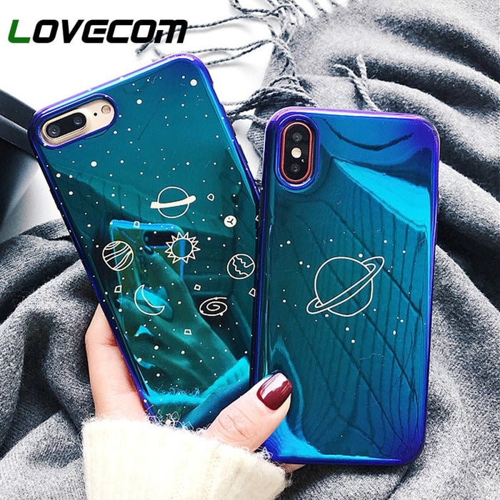 LOVECOM Universe Planet Case For iPhone XS XR XS Max X 8 7 6 6S Plus Retro Blu-Ray Fashion Cartoon Phone Back Cover Cases Gift - iDeviceCase.com