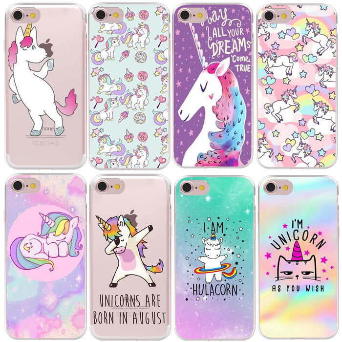HryCase Matte Hard Plastic Cute Hippo Unicorn Horse Case Cover For Apple iPhone XS Max XR 8 7 X 6 Plus 5 5S SE Phone Cases - iDeviceCase.com