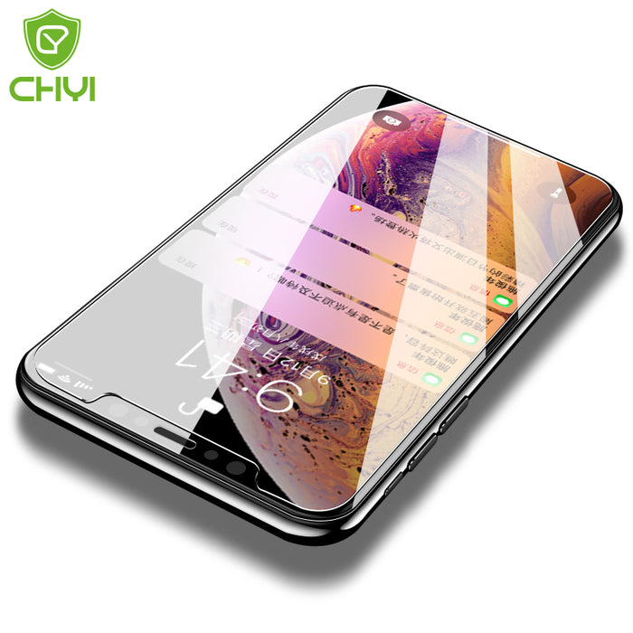 Original CHYI for iphone Xs max glass 9h hardness tempered glass iphone Xr explosion-proof screen protector for iPhone 5s glass - iDeviceCase.com