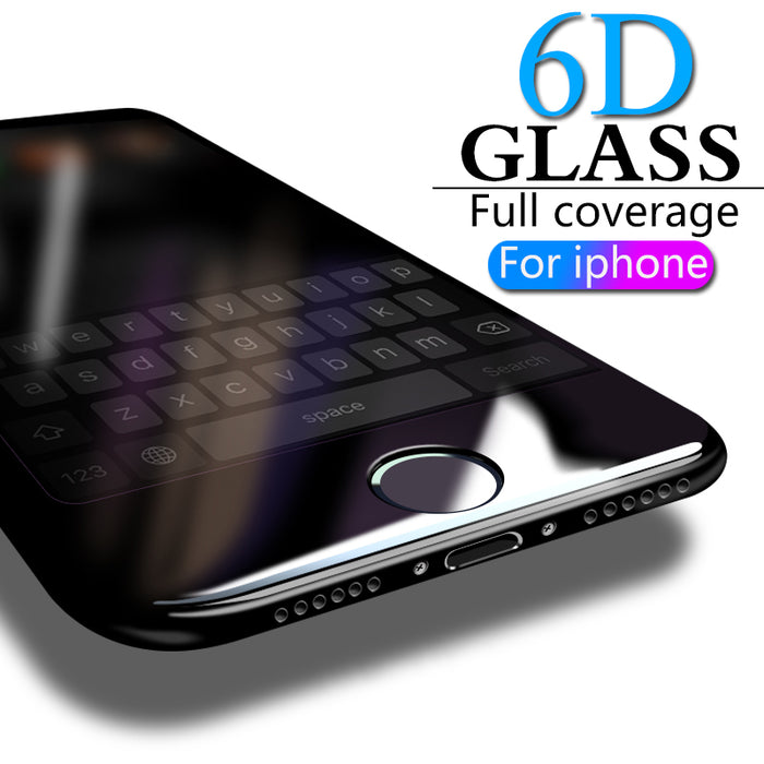 6D Full Cover Tempered Glass For iPhone 8 7 6 6S Plus X XS MAX glass iphone 7 8 x screen protector Protective glass on iphone 7 - iDeviceCase.com