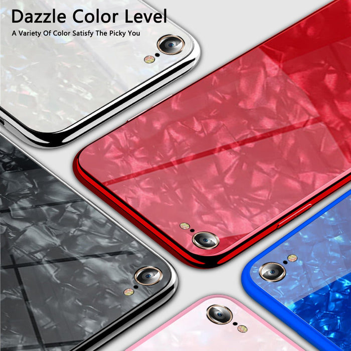 Luxury Tempered Glass Case For Iphone XS Max Case 8 8 Plus Glitter Case For Iphone 6 6S 7 8 Plus Case Coque For Iphone XR Cover - iDeviceCase.com
