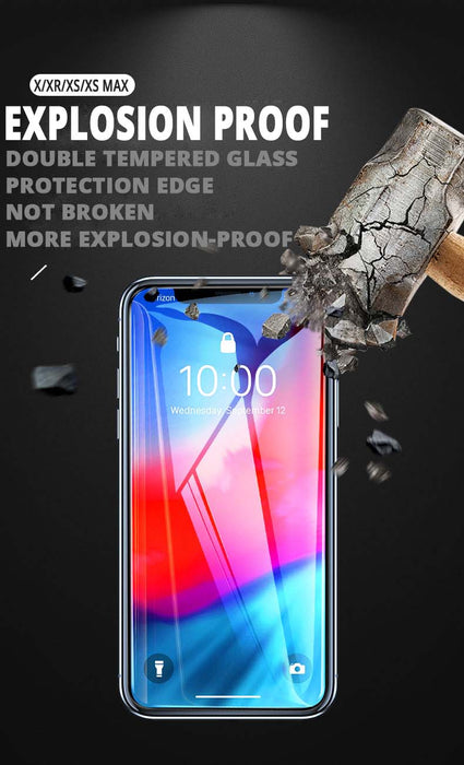 Tsimak 5D Full Cover Tempered Glass For iPhone XS Max Screen Protector Protective Film For iPhone 6 6S 7 8 Plus X XR Glass - iDeviceCase.com