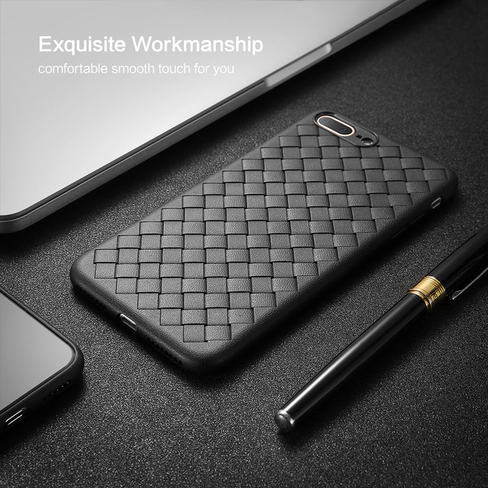 FLOVEME Luxury Braided Soft Case For iPhone XS XS Max XR X 10 Case Grid Weaving Silicone Full Phone Bag For iphone 6 6s 7 8 Plus - iDeviceCase.com