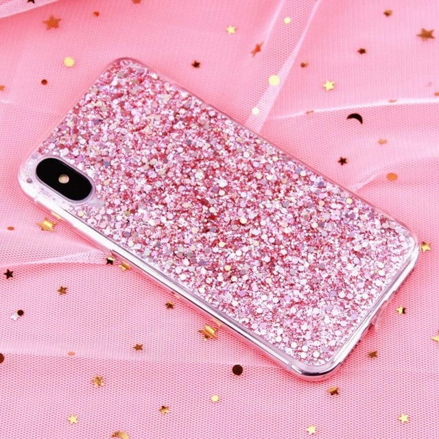 MaxGear Phone Case for iPhone 6 6S Case Silicon Bling Glitter Crystal Sequins Soft TPU Cover Fundas for iPhone 5 5S 7 8 Plus XS - iDeviceCase.com