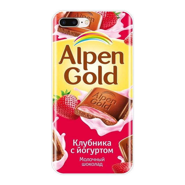 For iPhone 6 S 6S 7 8 X XR XS Max Case Silicone Funny Chocolate Russian Soft Cover For Apple iPhone 8 7 6S 6 S Plus Phone Case - iDeviceCase.com