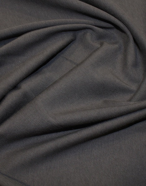 Dark Grey Organic Cotton Jersey Fabric