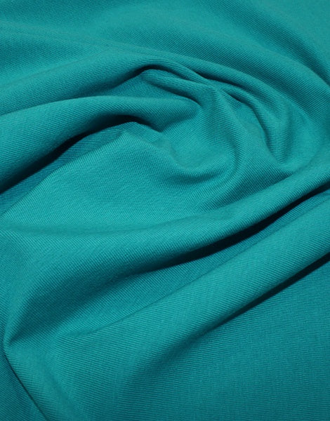 Teal Organic Cotton Jersey Fabric