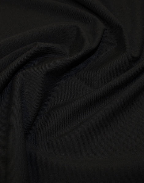 Black Organic Cotton Jersey Fabric