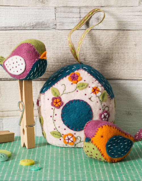Birdhouse & Birds Felt Craft Kit, Corinne Lapierre