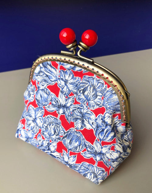 Blue & Red Liberty Clasp Purse Clothkits Sewing Kit