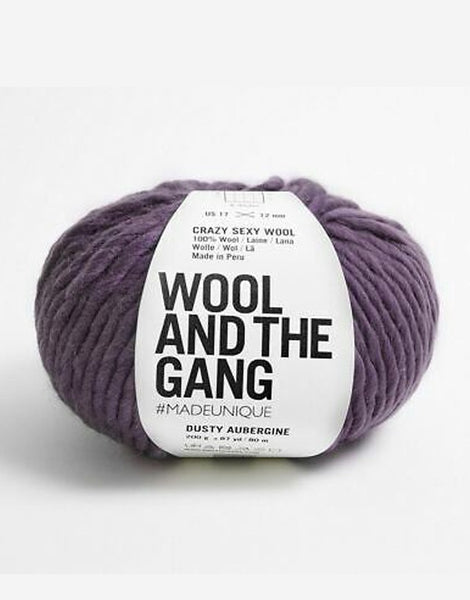 Crazy Sexy Wool Yarn, Wool and the Gang, Dusty Aubergine