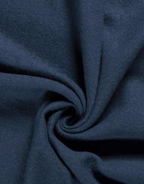 Cobalt Blue Woolen Cloth Coating Fabric