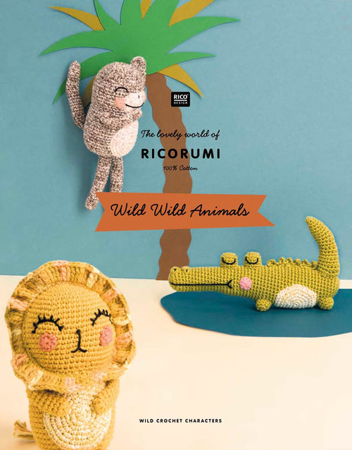 Wild Wild Animals Ricorumi Pattern Book, Rico Design