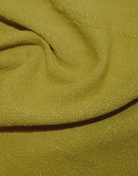 Chartreuse Stonewashed Linen Fabric