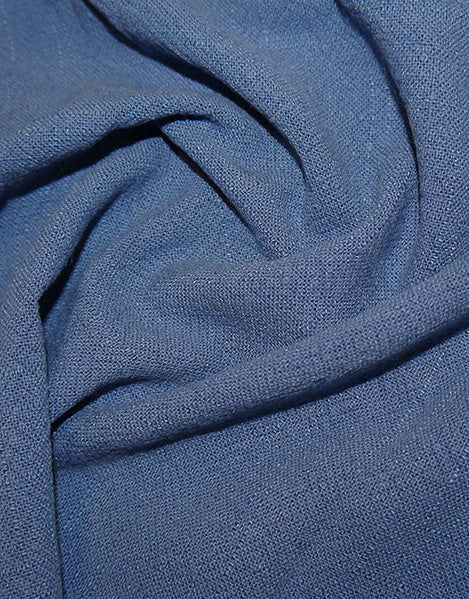 Denim Stonewashed Linen Fabric