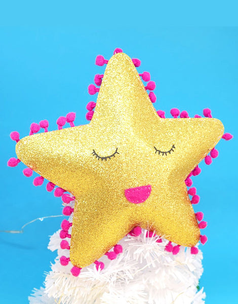 Glitter Star Tree Topper Christmas Decoration, The Make Arcade