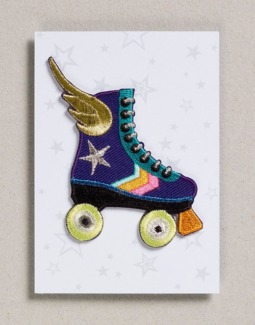 Rollerskate Iron on Patch