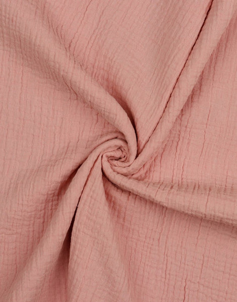 Old Rose Cotton Organic Double Gauze