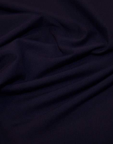 Navy Organic Cotton Jersey Fabric