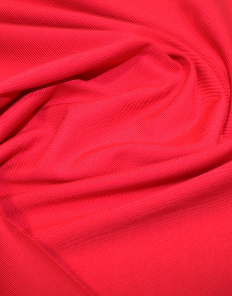 Red Organic Cotton Jersey Fabric