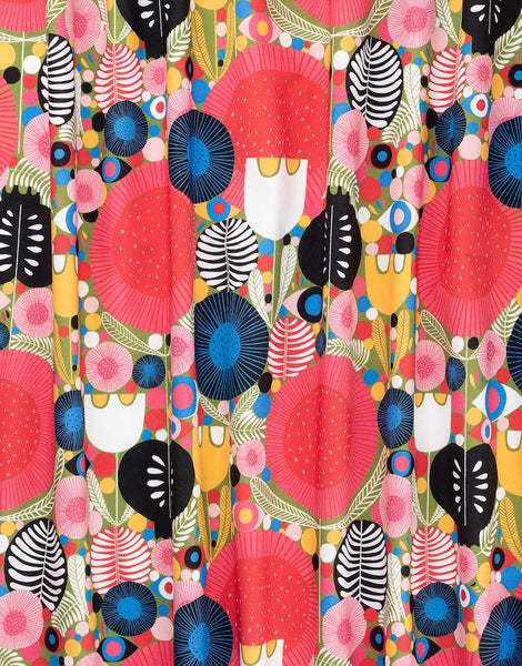 Eyes in the Garden Cotton Sateen Fabric, Lisa Congdon for Nerida Hansen