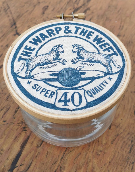 Navy 'The Warp & The Weft' Small Storage Jar, The Industrious Maker