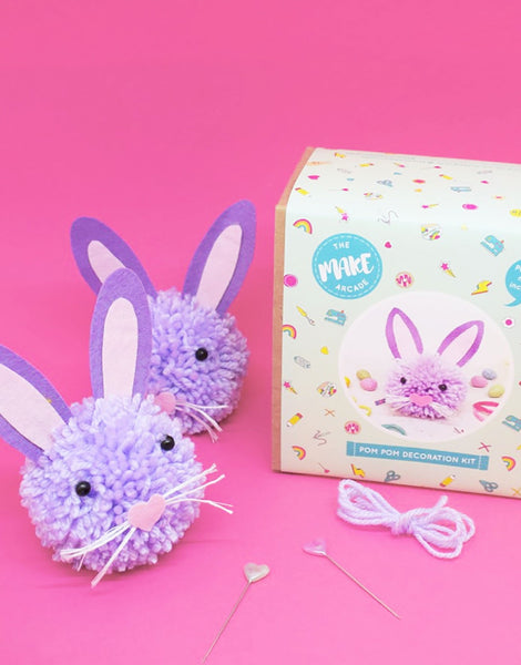 Cute Bunny Pom Pom Craft Kit, The Make Arcade