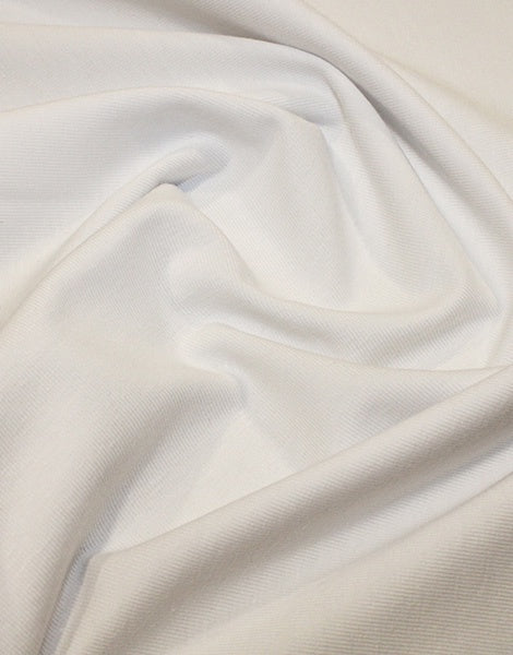 White Organic Cotton Jersey Fabric