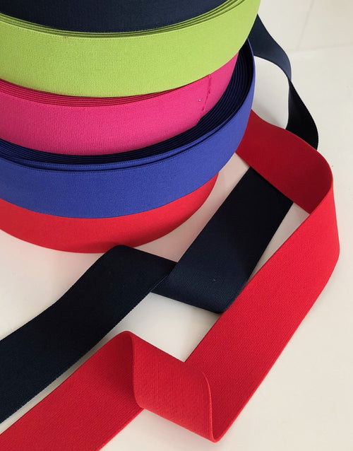 Waistband Elastic 40mm Wide, Various Colours