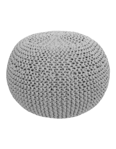 Sporty Grey Crochet or Knit Kit, Zpagetti Pouf