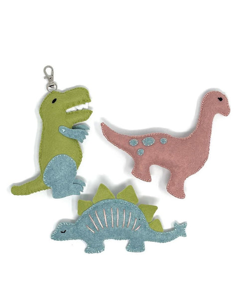Three Felt Dinos Sewing Kit, Crafty Kit Company