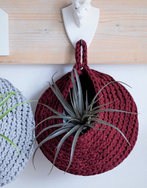 Marsala Bordeaux Crocheted Storage Bag Kit, Hoooked Zpagetti