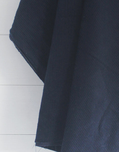 Navy Blue Cotton 8 Wale Corduroy Fabric
