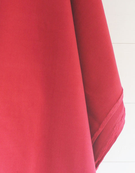 Red Cotton Baby Corduroy Fabric
